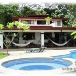 Pool and Outside Entertainment Area - Dominical, Puntarenas, Costa Rica Travel & Vacation Rental - Casa Del Bosque: Dominical Luxury Home!